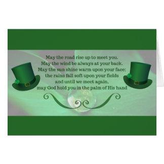 Carte du jour de St Patrick