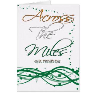 Carte du jour de St Patrick - à travers les milles