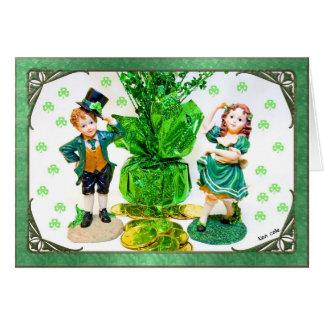 Carte du jour de St Patrick avec de petites