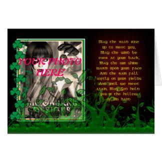 Carte du jour de St Patrick avec la photo