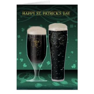 Carte du jour de St Patrick deux pintes de bière