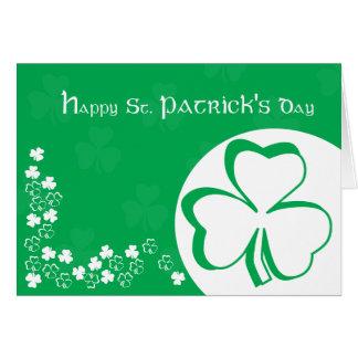 Carte du jour de St Patrick heureux
