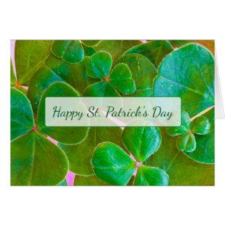 Carte du jour de St Patrick personnalisé de