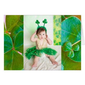 Carte du jour de St Patrick personnalisé de photo