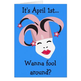 Carte du jour d'imbécile d'avril