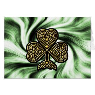 carte du jour d'or de St Patrick celtique de