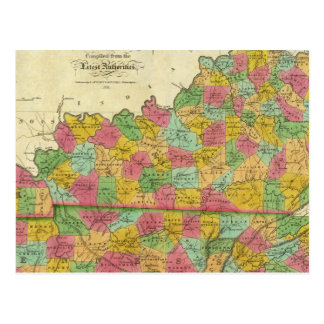 Carte du Kentucky et du Tennessee