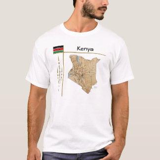 Carte du Kenya + Drapeau + T-shirt de titre
