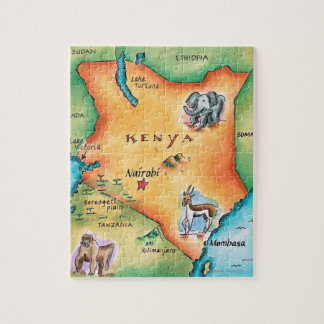 Carte du Kenya Puzzle