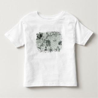 Carte du littoral de la Nouvelle Angleterre T-shirt Pour Les Tous Petits