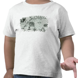 Carte du littoral de la Nouvelle Angleterre T-shirts