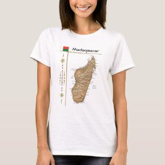 Carte du Madagascar + Drapeau + T-shirt de titre