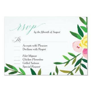 """Carte du mariage RSVP """"de roseraie de pêche"""" Carton D'invitation 8,89 Cm X 12,70 Cm"""