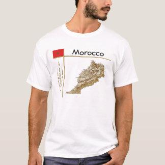 Carte du Maroc + Drapeau + T-shirt de titre