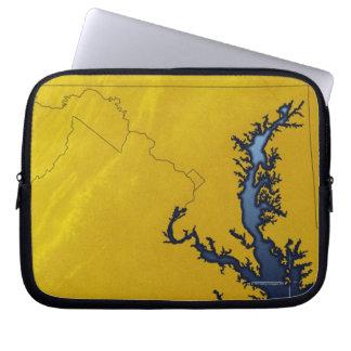 Carte du Maryland 4 Housses Ordinateur