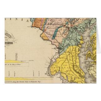 Carte du Maryland et du District de Columbia