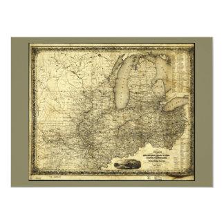 Carte du Midwest Etats-Unis (c 1840)
