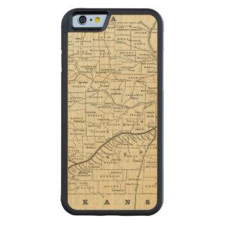 Carte du Missouri 2 Coque iPhone 6 Bumper En Érable
