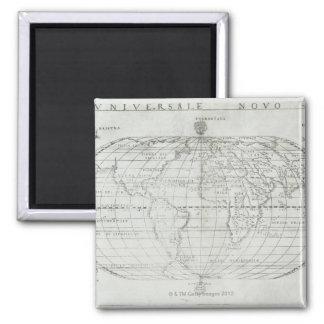 Carte du monde 17 magnet carré