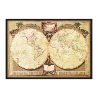 Carte du monde (1808) toile