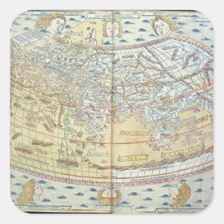 Carte du monde 2 sticker carré