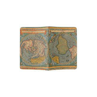 Carte du monde à partir de 1593 protège-passeports