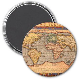 Carte du monde à partir de 1601 aimant