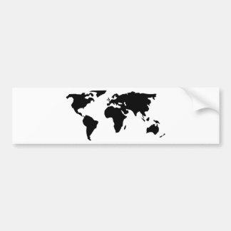 Carte du monde autocollant de voiture