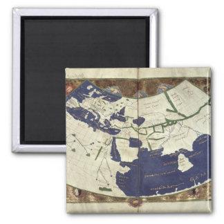 Carte du monde connu, de 'Geographia Magnet Carré