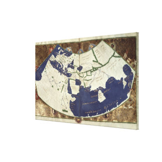 Carte du monde connu, de 'Geographia Toiles