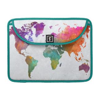 Carte du monde dans l'aquarelle housse pour macbook