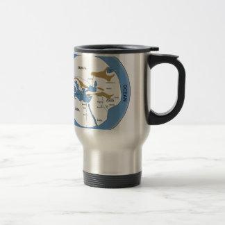 Carte du monde de Hecataeus - carte de Vieux Monde Mug De Voyage En Acier Inoxydable