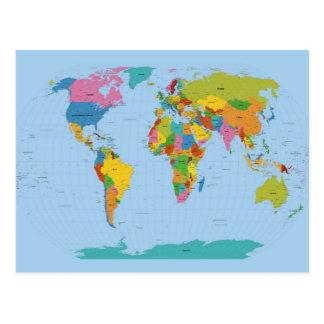 Carte du monde lumineuse