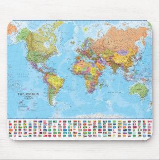 Carte du monde Mousepad/tapis de souris Tapis De Souris