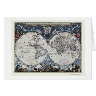 Carte du monde par Joan Blaeu - 1664