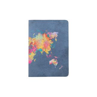 carte du monde protège-passeport