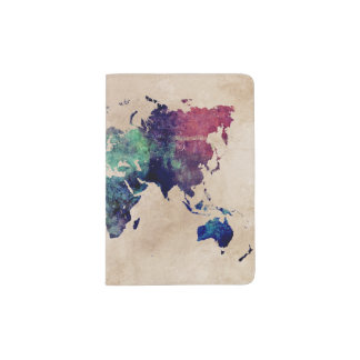 carte du monde protège-passeports
