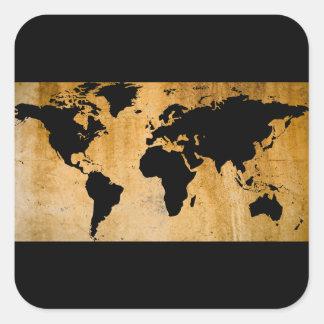 Carte du monde sticker carré