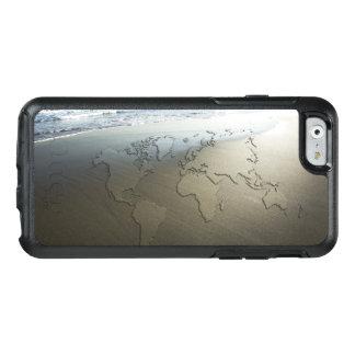 Carte du monde sur le sable coque OtterBox iPhone 6/6s