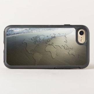 Carte du monde sur le sable coque otterbox symmetry pour iPhone 7