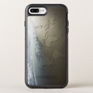 Carte du monde sur le sable coque otterbox symmetry pour iPhone 7 plus