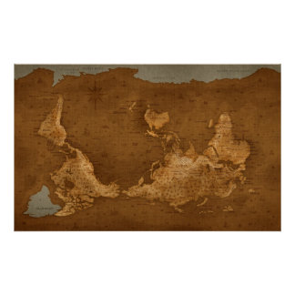 Carte du monde - upside-down poster