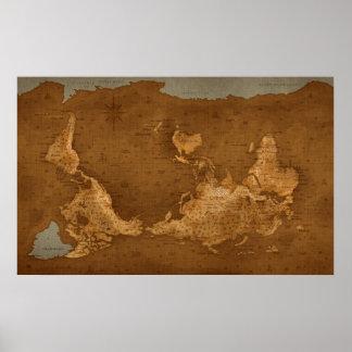 Carte du monde - upside-down posters