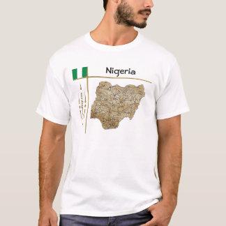 Carte du Nigéria + Drapeau + T-shirt de titre