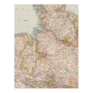 Carte du nord de Hanovre, Schleswig-Holstein,