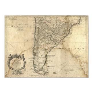 Carte du Paraguay et du piment, Amérique du Sud