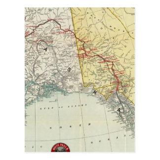 Carte du passage et l'itinéraire et les connexions