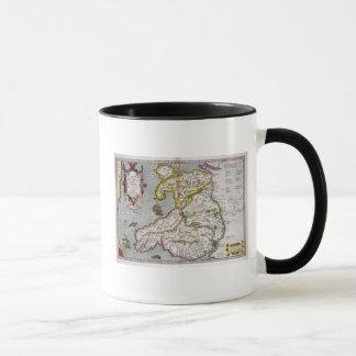 Carte du Pays de Galles, c.1630 édité (main-coloré Mug