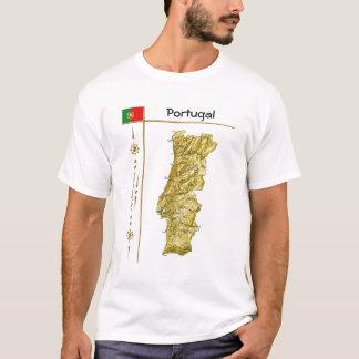 Carte du Portugal + Drapeau + T-shirt de titre