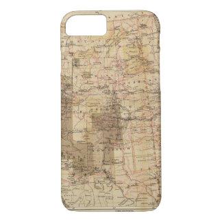 Carte du progrès 1878 des enquêtes géographiques 2 coque iPhone 7